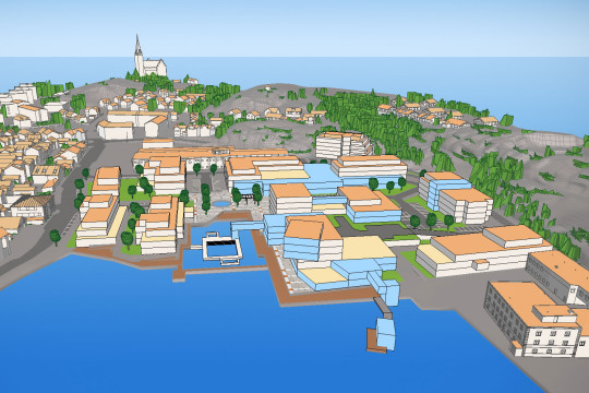 Norra Hamnstranden under utveckling.